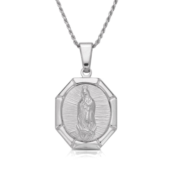 .925 Sterling Silver Guadalupe Necklace