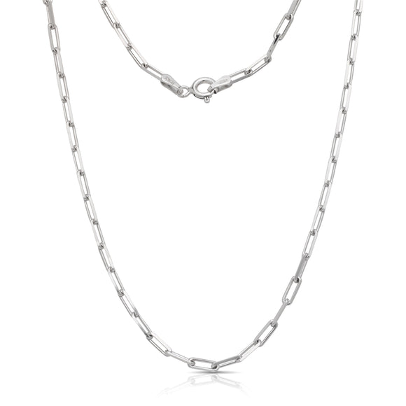 New! Trendy Link Chain Necklace .925 Sterling Silver