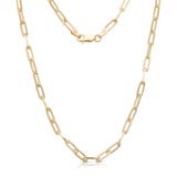 New! Trendy Link Chain Necklace 14K Gold Plated .925 Sterling Silver