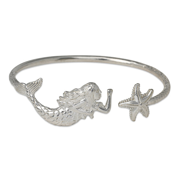 Siren .925 Sterling Silver Bangle