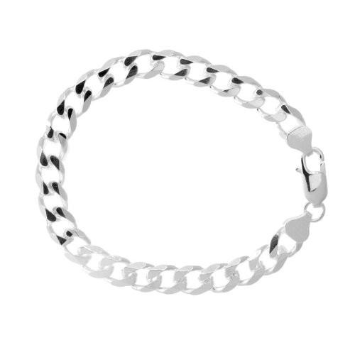 .925 SOLID Sterling Silver Cuban Link Bracelet - Multiple sizes - Betterjewelry