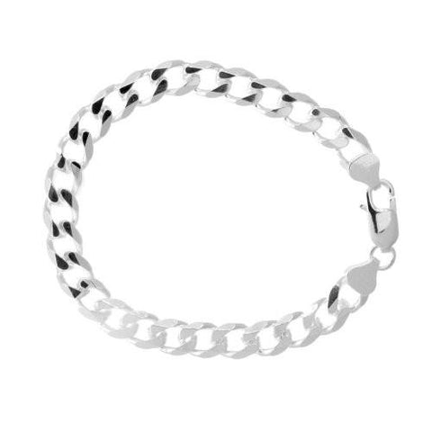 .925 SOLID Sterling Silver Cuban Link Bracelet - Multiple sizes