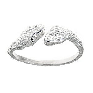Cobra Ends .925 Sterling Silver West Indian Style Ring (MADE IN USA) - Betterjewelry