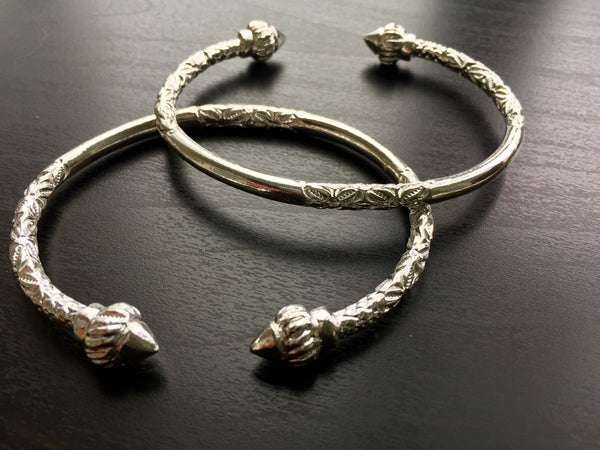 Ridged Arrow 925 Sterling Silver West Indian Bangles