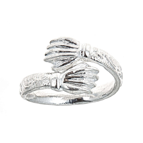 Hand / Palm Ends .925 Sterling Silver West Indian Style Ring