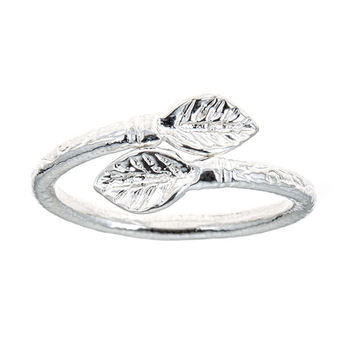 Leaf Ends .925 Sterling Silver West Indian Style Ring