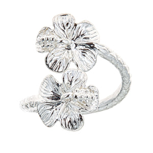 Flower Ends .925 Sterling Silver West Indian Style Ring - Betterjewelry