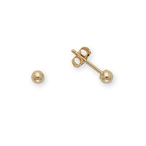MINIMALIST Ball Earrings - 14k Yellow Gold - Multiple sizes - Betterjewelry
