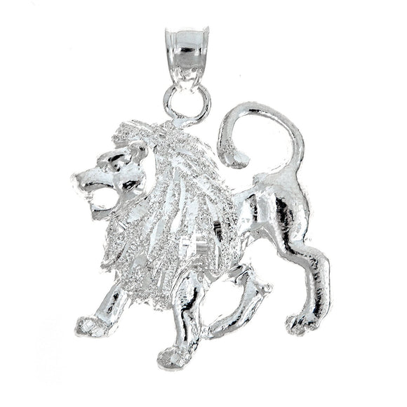 925 Sterling Silver Leo Pendant - MADE IN USA (9 grams) - Betterjewelry