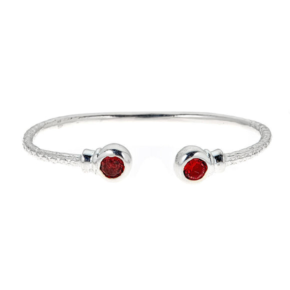 Personalized Birthstone Solid .925 Sterling West Indian Bangles - Betterjewelry