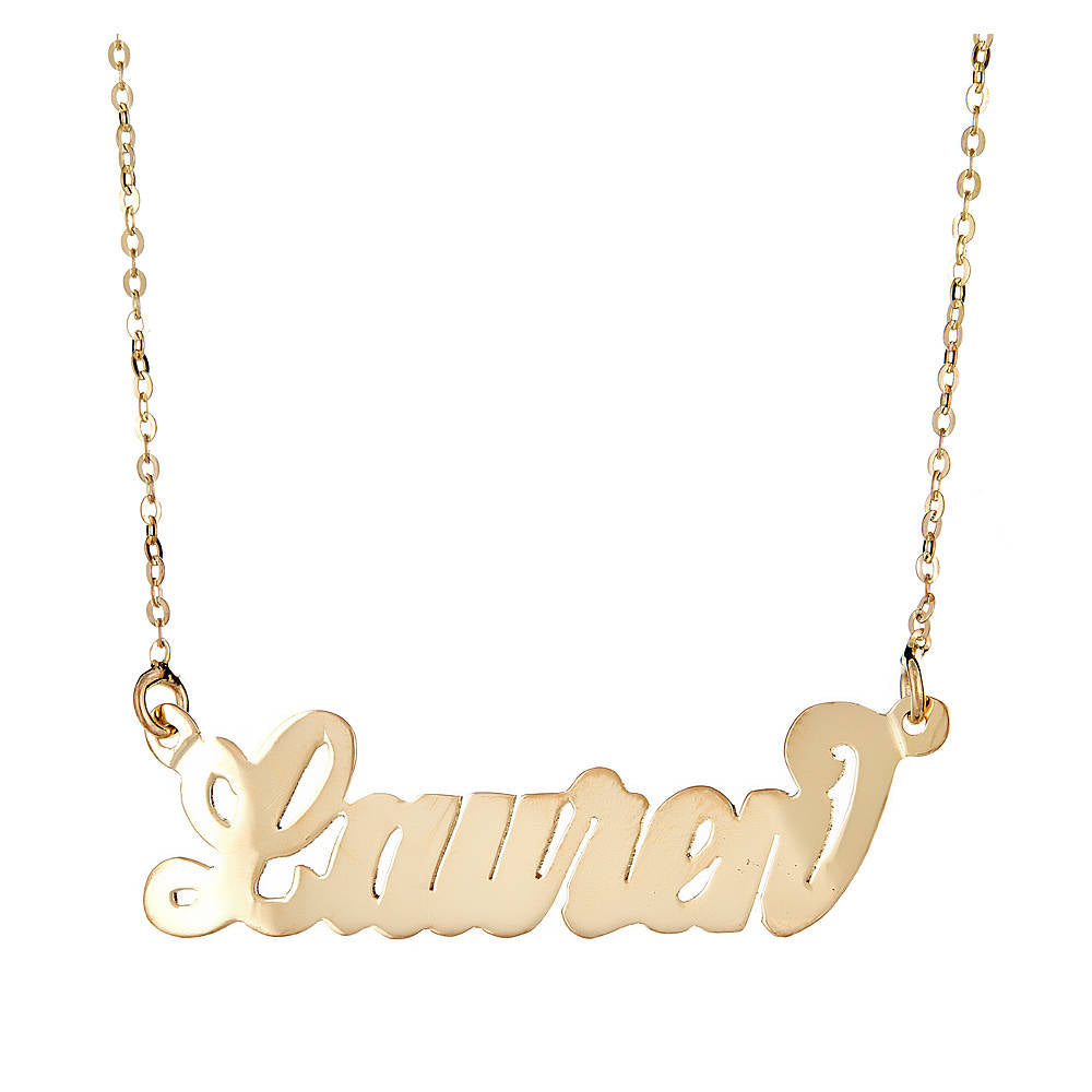 Personalized 14K Gold Plated .925 Sterling Silver