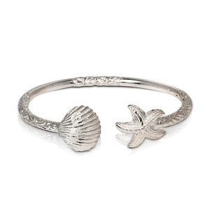 Solid .925 Sterling Silver Summer Dream Bangle (Made in USA) - Betterjewelry