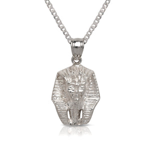 NEW! .925 Sterling Silver Pharaoh Pendant w. Cuban Chain Set - Betterjewelry