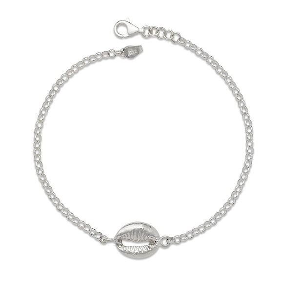 Cowrie Shell .925 Sterling Silver Anklet
