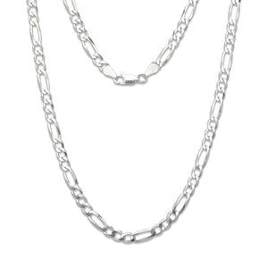 6 mm Figaro Chain .925 Sterling Silver