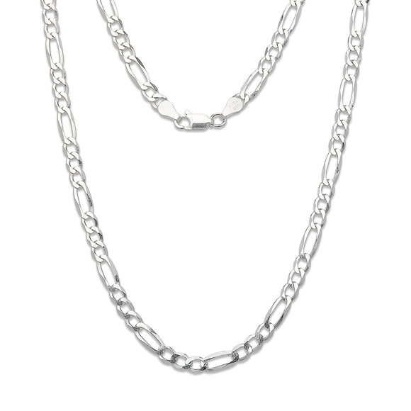 3 mm Figaro Chain .925 Sterling Silver