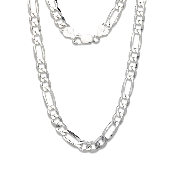 7 mm Figaro Chain .925 Sterling Silver