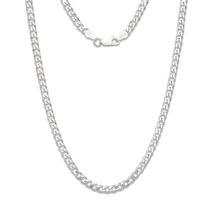 5mm Solid .925 Sterling Silver Cuban Chain