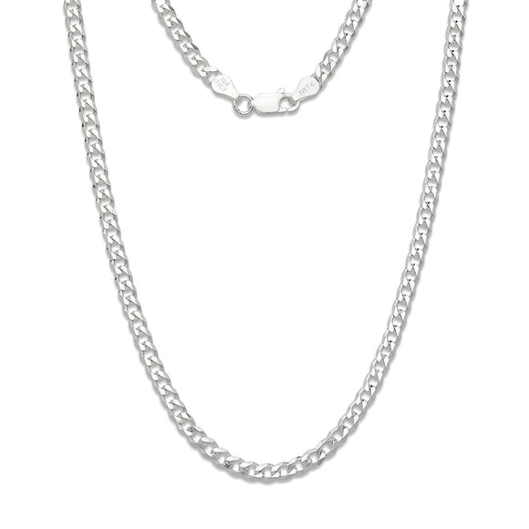 4mm Solid .925 Sterling Silver Cuban Chain