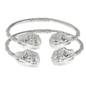 Pharaoh Head .925 Sterling Silver West Indian Bangles - Betterjewelry