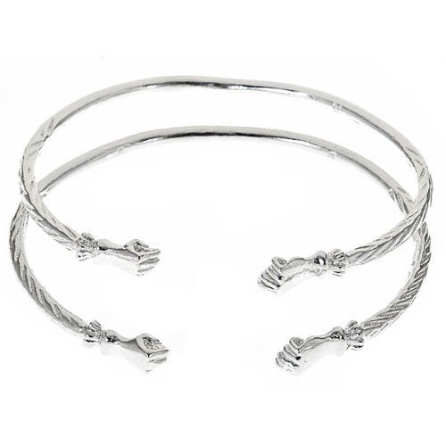 Fist .925 Sterling Silver West Indian Bangles