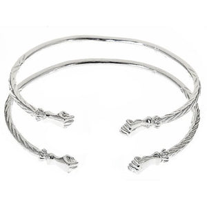 Fist .925 Sterling Silver West Indian Bangles - Betterjewelry