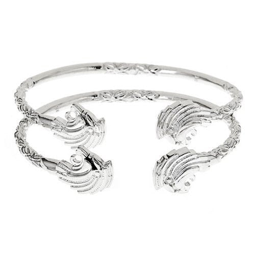Lion .925 Sterling Silver West Indian Bangles - Betterjewelry
