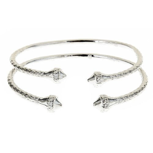 Elegant Ends .925 Sterling Silver West Indian BABY Bangles - Betterjewelry