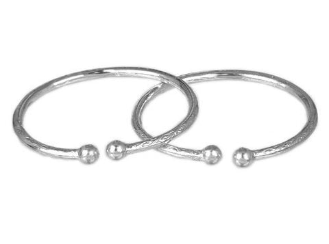 Ball .925 Sterling Silver West Indian Bangles - Betterjewelry