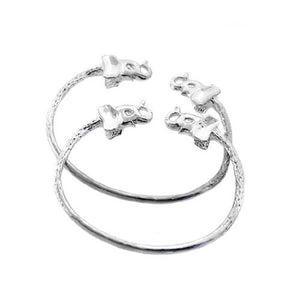 Elephant .925 Sterling Silver West Indian Baby Bangles - Betterjewelry