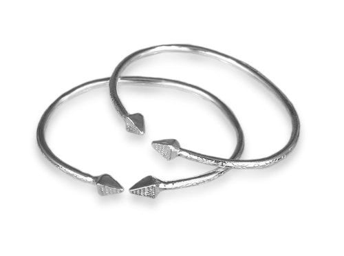 Pyramid .925 Sterling Silver West Indian Baby Bangles (Pair)