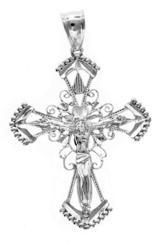 Solid Sterling Silver Crucifix - Betterjewelry