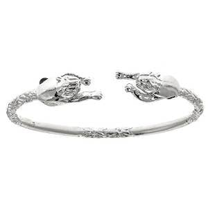 Panther .925 Sterling Silver West Indian Bangle (ONE BANGLE) (Made in Usa) - Betterjewelry