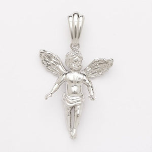 Sterling Silver .925 Saint Michael Angel Pendant / Charm 5.3 grams (Made in Usa)