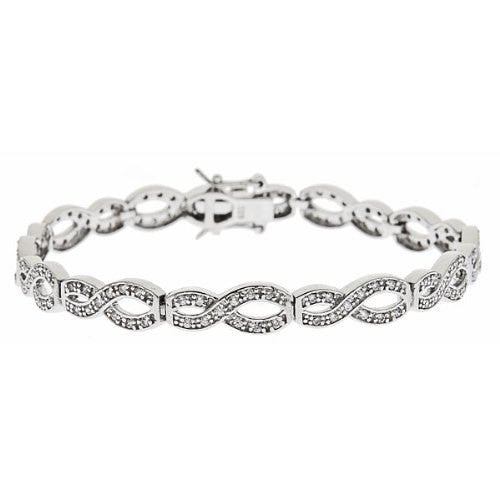 Women's .925 Sterling Silver Tennis Bracelet w. White CZ Stones 12.2 Grams