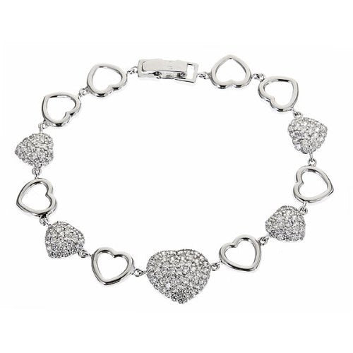 Women's .925 Sterling Silver Tennis Bracelet w. White CZ Stones 10.8 Grams