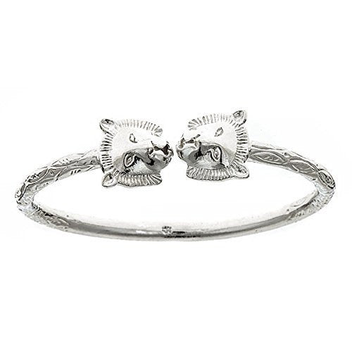 Lion .925 Sterling Silver West Indian Bangle (ONE BANGLE) - Betterjewelry