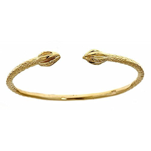 14K Yellow Gold BABY West Indian Bangle w. Bulb Ends (10.5 grams) - Betterjewelry