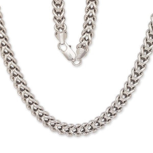 "Franco Italian Chain 36 "" .925 Sterling Silver Chain / 8 mm - Betterjewelry"