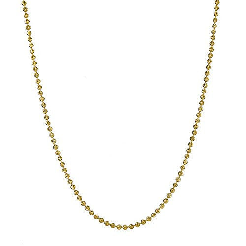 14K Yellow Gold on .925 Sterling Silver Moon-Cut Chain  (10.5 grams )