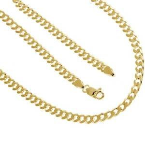 Solid Sterling Silver .925 Cuban Chain 24 Inches 4.3 mm 14K Gold Plated 19.5 Grams