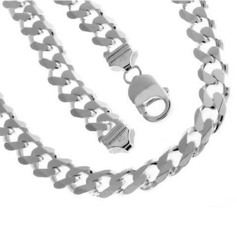 Solid Sterling Silver Cuban Chain - Multiple Sizes