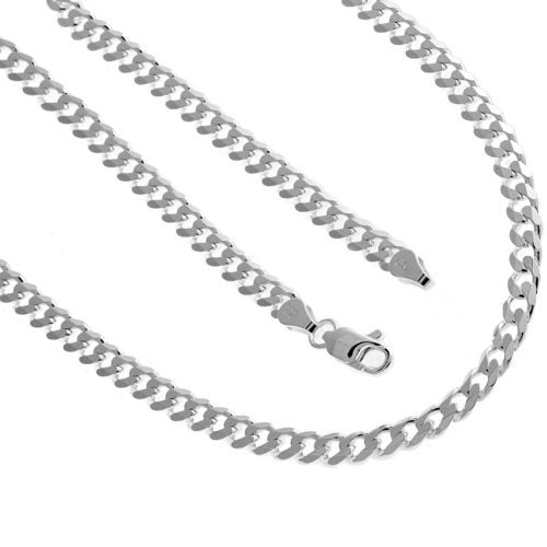 Solid Sterling Silver .925 Cuban Chain 22 Inches 6.4 mm 39.4 Grams
