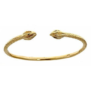 10K Yellow Gold BABY West Indian Bangle w. Bulb Ends - Betterjewelry