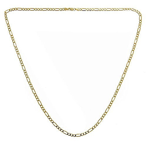 10K Yellow Gold Italian Link Figaro Chain (4.0 gr) - Betterjewelry