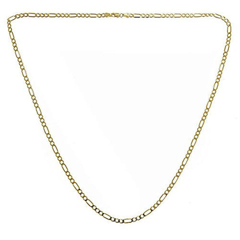 10K Yellow Gold Italian Link Figaro Chain (4.0 gr)