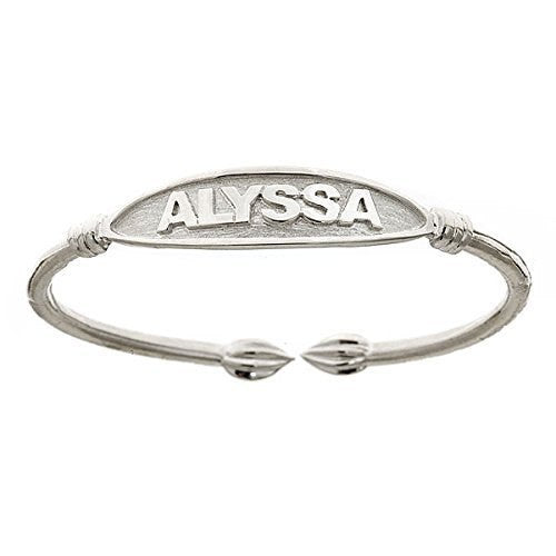 NAME PLATE Adult Bangle .925 Sterling Silver - Betterjewelry