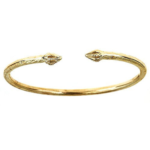 10K Yellow Gold Pointy Bulb West Indian Bangle (42 grams) - Betterjewelry