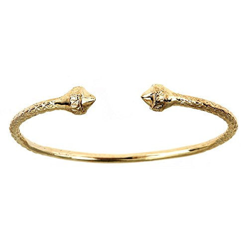 10K Yellow Gold BABY West Indian Bangle w. Pointy Ends