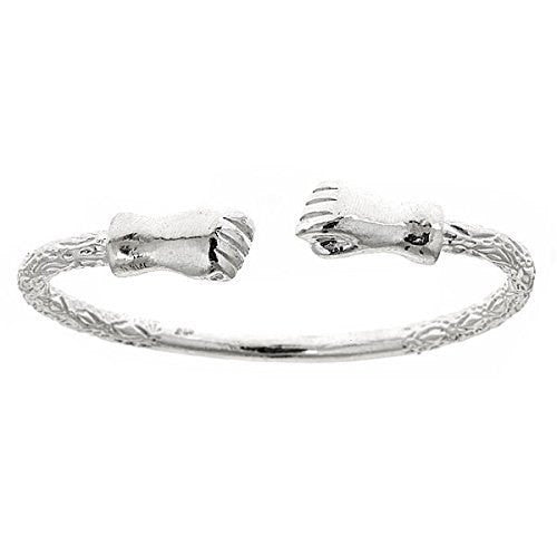 Fist .925 Sterling Silver West Indian Bangle (Made in USA) - Betterjewelry